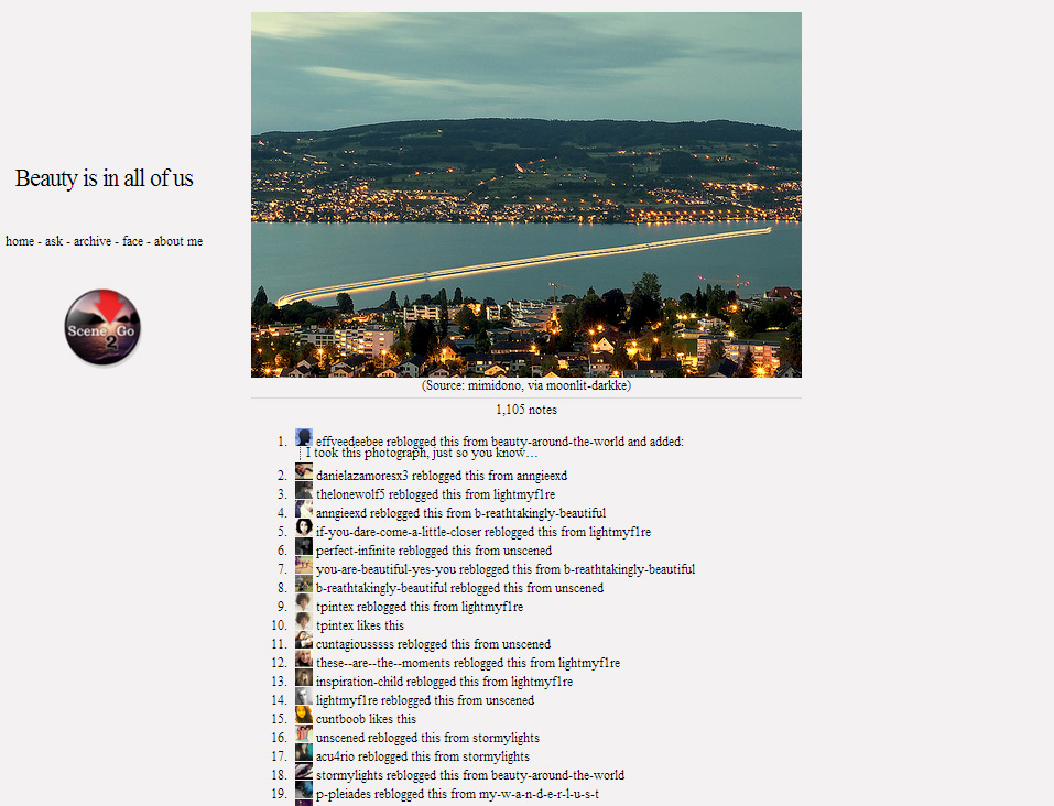An old test shot of the Horgen Ferry went (kind of) viral on Tumblr. Internet points, that is all.