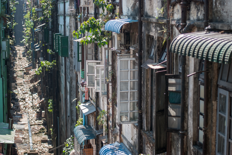 The back-alley behind our hotel in Yangon
