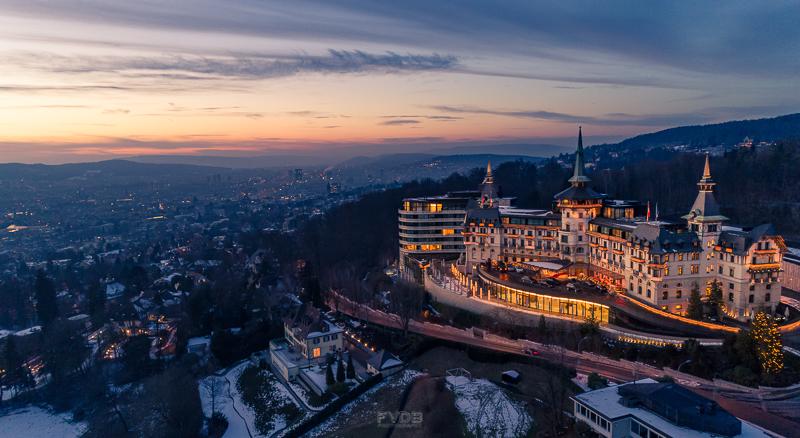 The Dolder Grand Hotel overlooking Zurich