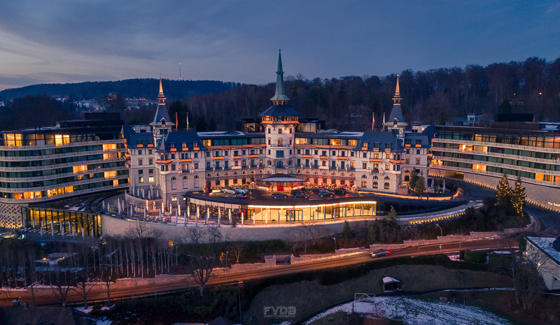 The Dolder Grand Hotel at night