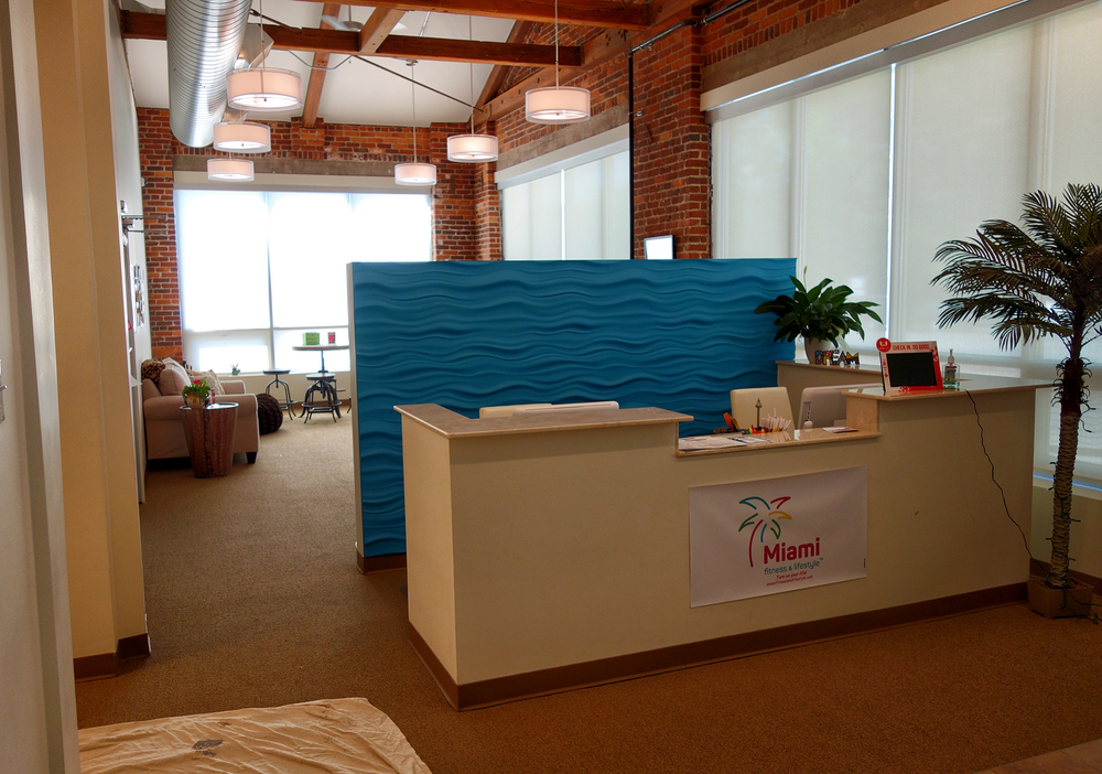 Miami Fitness & Lifestyle Reception Area