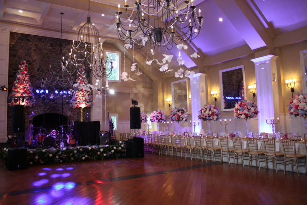 NYCWeddingLighting - Uplighting at the Ryland Inn