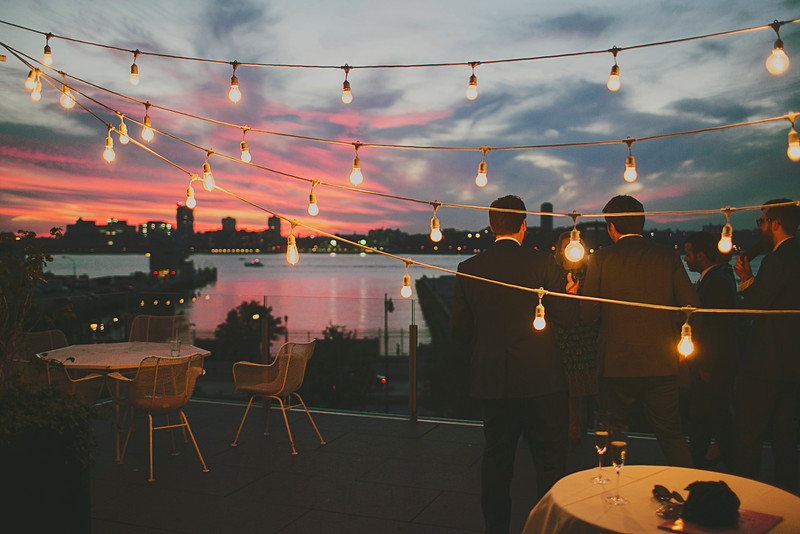 NYCWeddingLighting - String Lights at the Standard Hotel