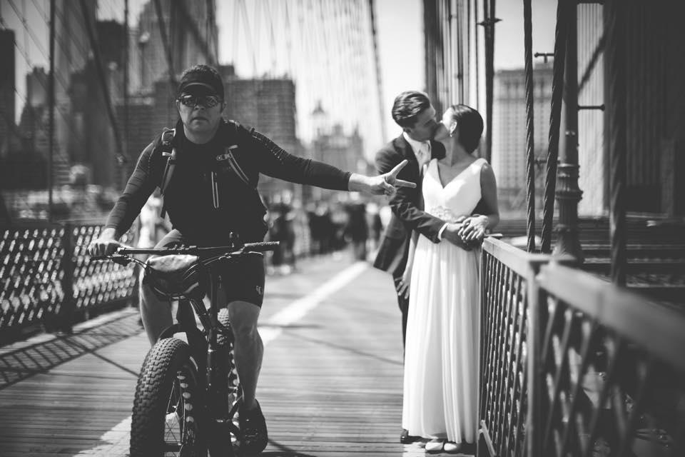 Wedding Session on Brooklyn Bridge. Photo by: Joseph of Joseph & SIw