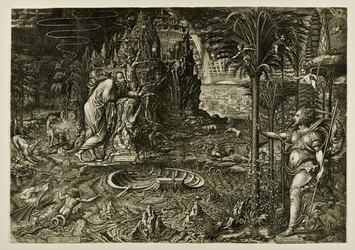 Giorgio Ghisi (Italian (Mantua), about 1520–1582), Allegory of Life. Engraving, 1561. Purchased with funds from the Libbey Endowment, Gift of Edward Drummond Libbey, 1982.90