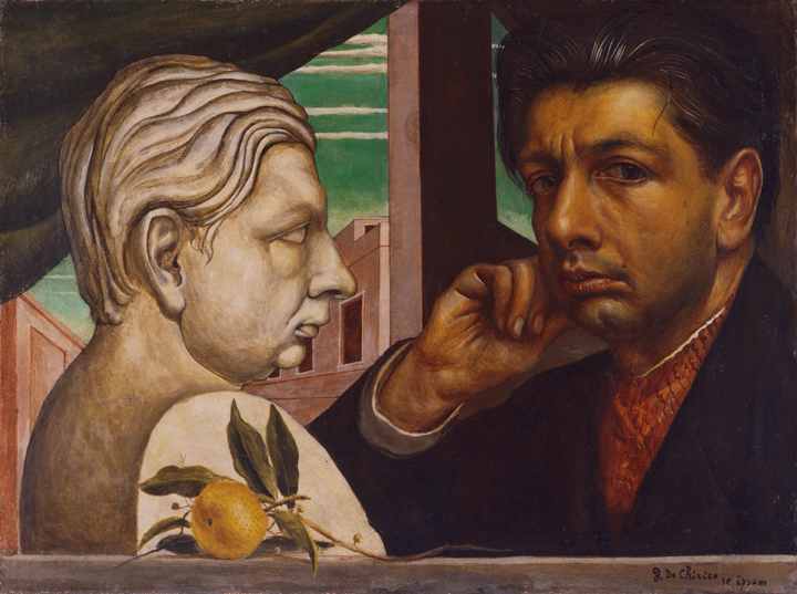 Giorgio De Chirico (Italian (born Greece), 1888 –1978), Self Portrait. Oil on canvas, about 1922 Purchased with funds from the Libbey Endowment, Gift of Edward Drummond Libbey, 1930.204
