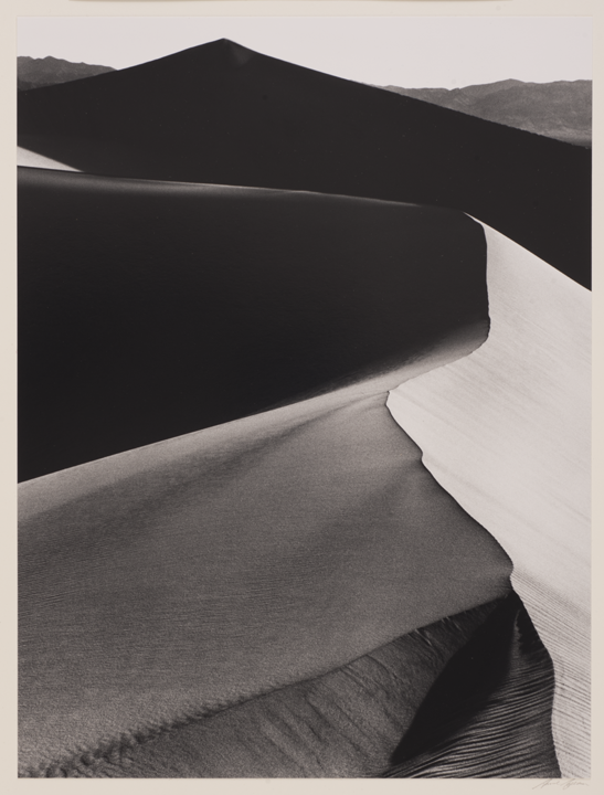 Ansel Adams (American, 1902–1984), Sunrise, Dunes, Death Valley National Monument. Gelatin-silver print, 1948. Purchased with funds given by an anonymous donor, 1975.3