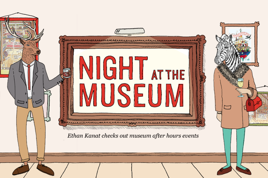 NIGHT AT THE MUSEUM Ethan Kanat checks out museum after hours events