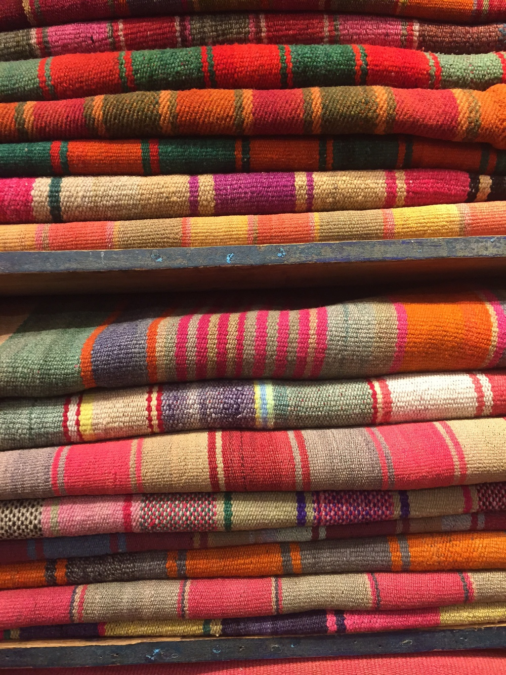 Our Bolivian Blanket connection- stay tuned for some great pillows to come of these....