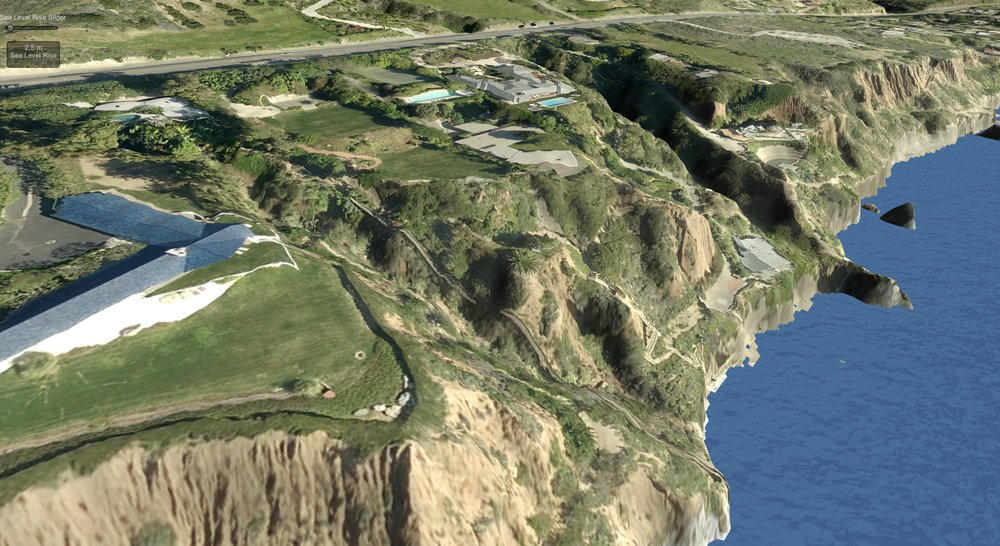 A stretch of Pacific Coast highway in malibu recreated in the unity video game engine (Credit: Andrew Doiron & Adam Fenech, Prince Edward Island University)