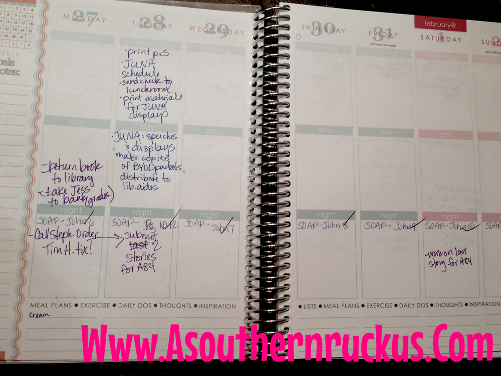 This was the second week I was using my EC planner, and you can see how quickly I fell off the Daily Task List wagon.
