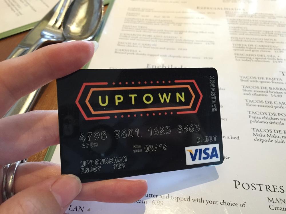 Uptown bham gift card