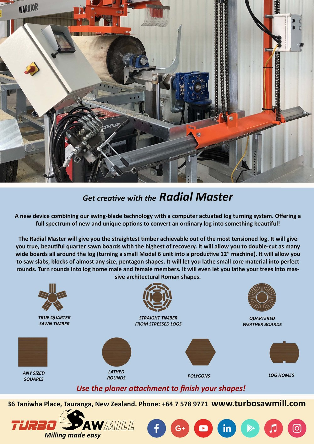 Check out our Youtube playlist. - Showing just some of the advantages of the Radial Master.