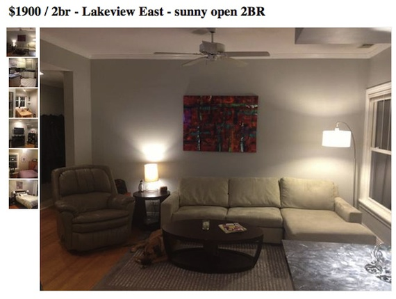 Dog photobombs every single photo in Craigslist apartment listing.            Via Happy Place    This just made me so happy, for some reason.