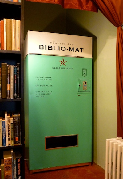 scribnerbooks :          In Toronto, a  vending machine  that sells random books for $2 apiece.