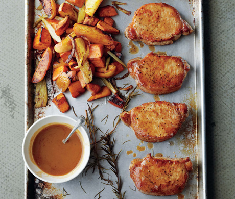 Cider-Dijon Pork Chops - recipe from Epicurious