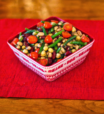 Three Bean Salad - recipe from eNourishment