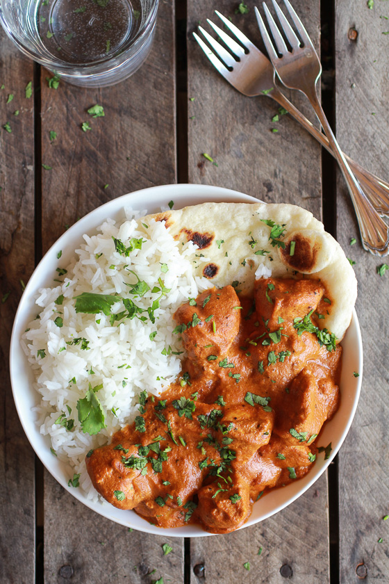 Easy Healthier Crockpot Butter Chicken - recipe from Half Baked Harvest