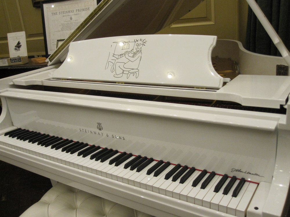The John Lennon designed piano