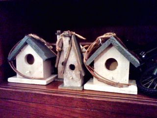 Tiny birdhouses