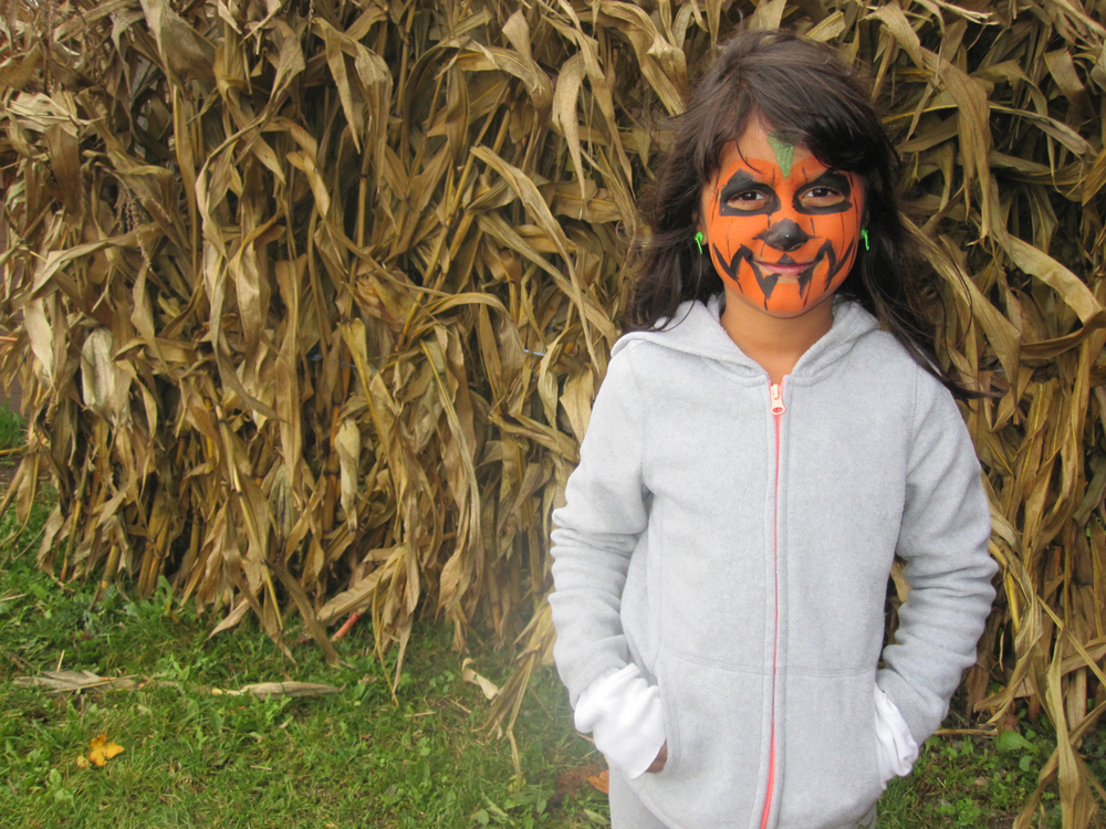 Layla, after going to the face painting area.