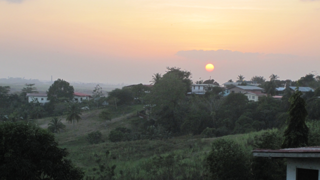 Trinidad, the view from Ma's house.