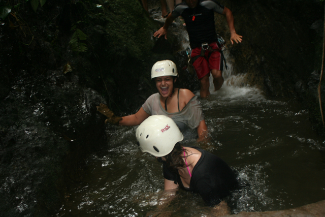 Canyoneering with Marla, Costa Rica 2010.