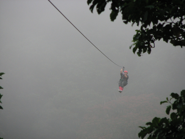 Ziplining in Costa Rica, 2010.