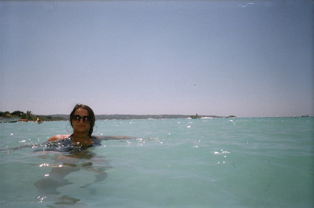 In the sea, Jamaica 2011.