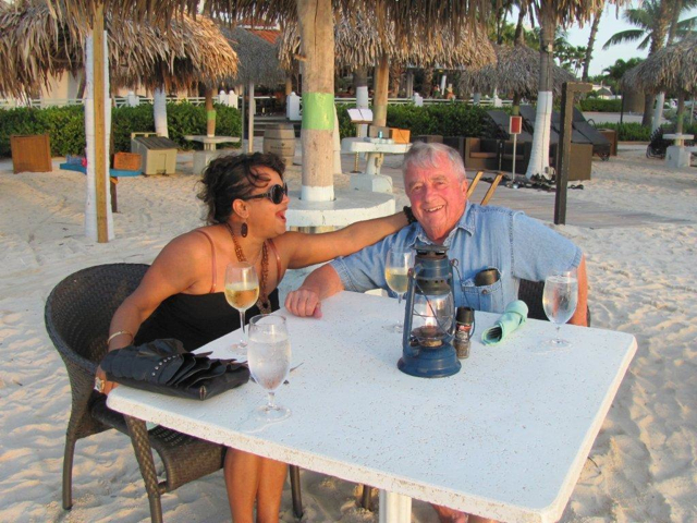 My parents in Aruba 2011.