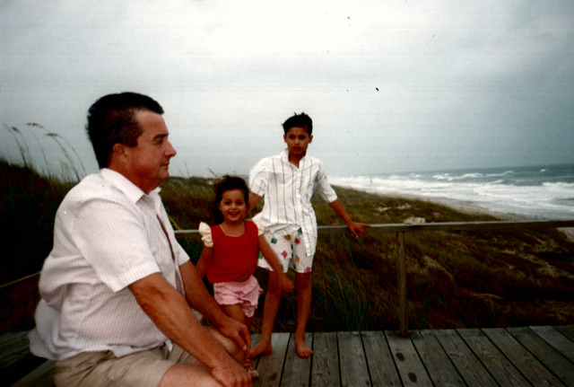 North Carolina with Dad & Gary, right before he got bit.