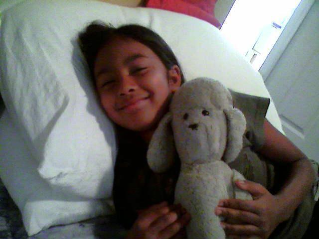Tianna & said poodle, early 2000s.