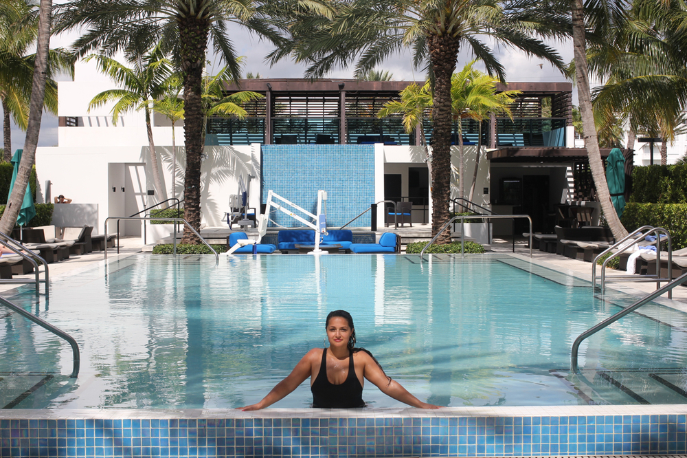 The infinity pool at the  Tideline Resort
