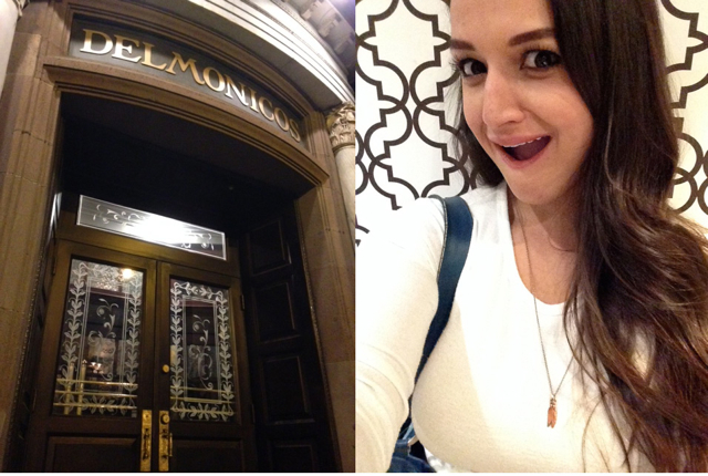 That's the front of Delmonico's & that's me in the washroom at Delmonico's