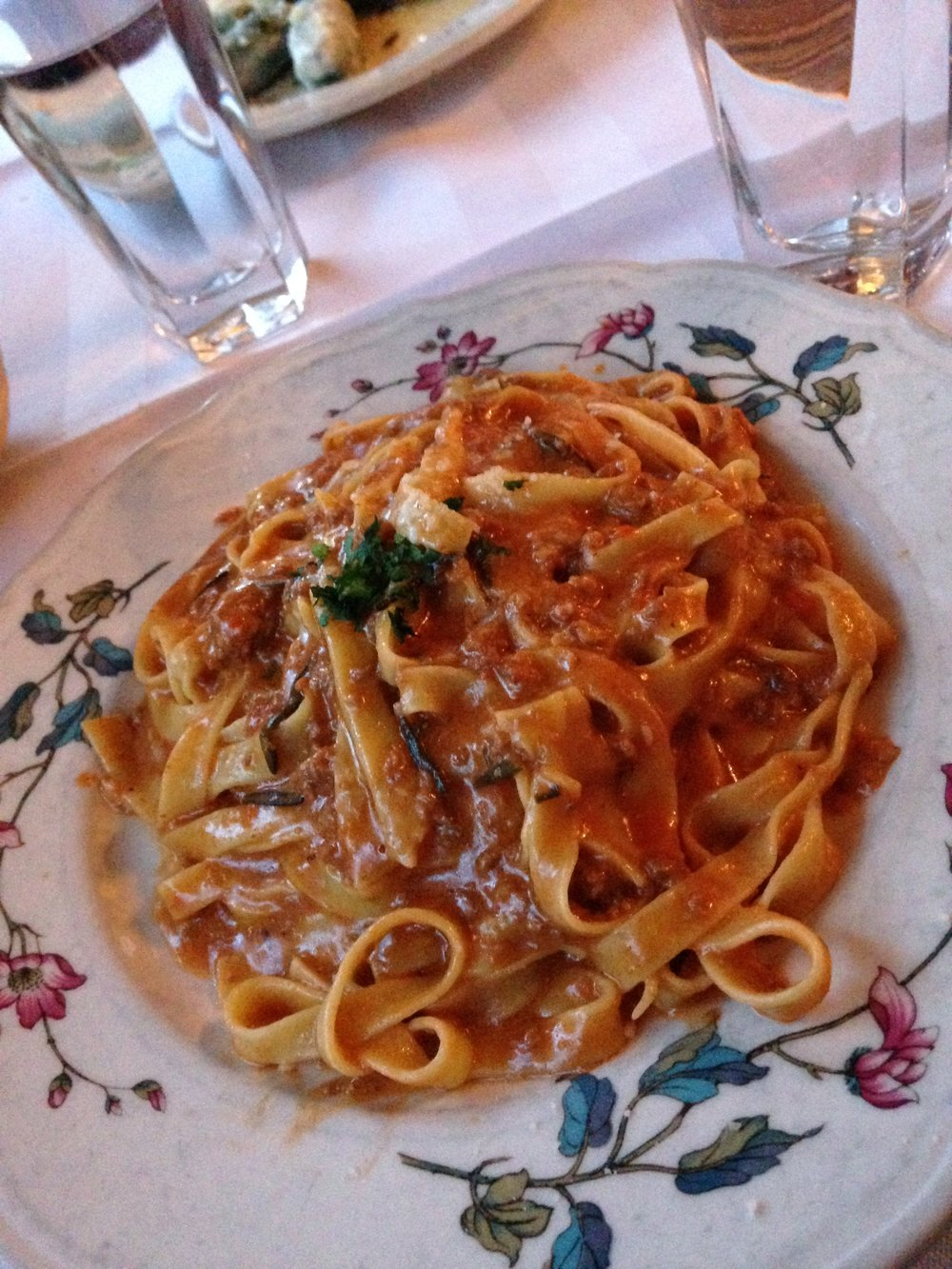 Tagliatelle Al Ragu at Al Di La, Brookyn, New York