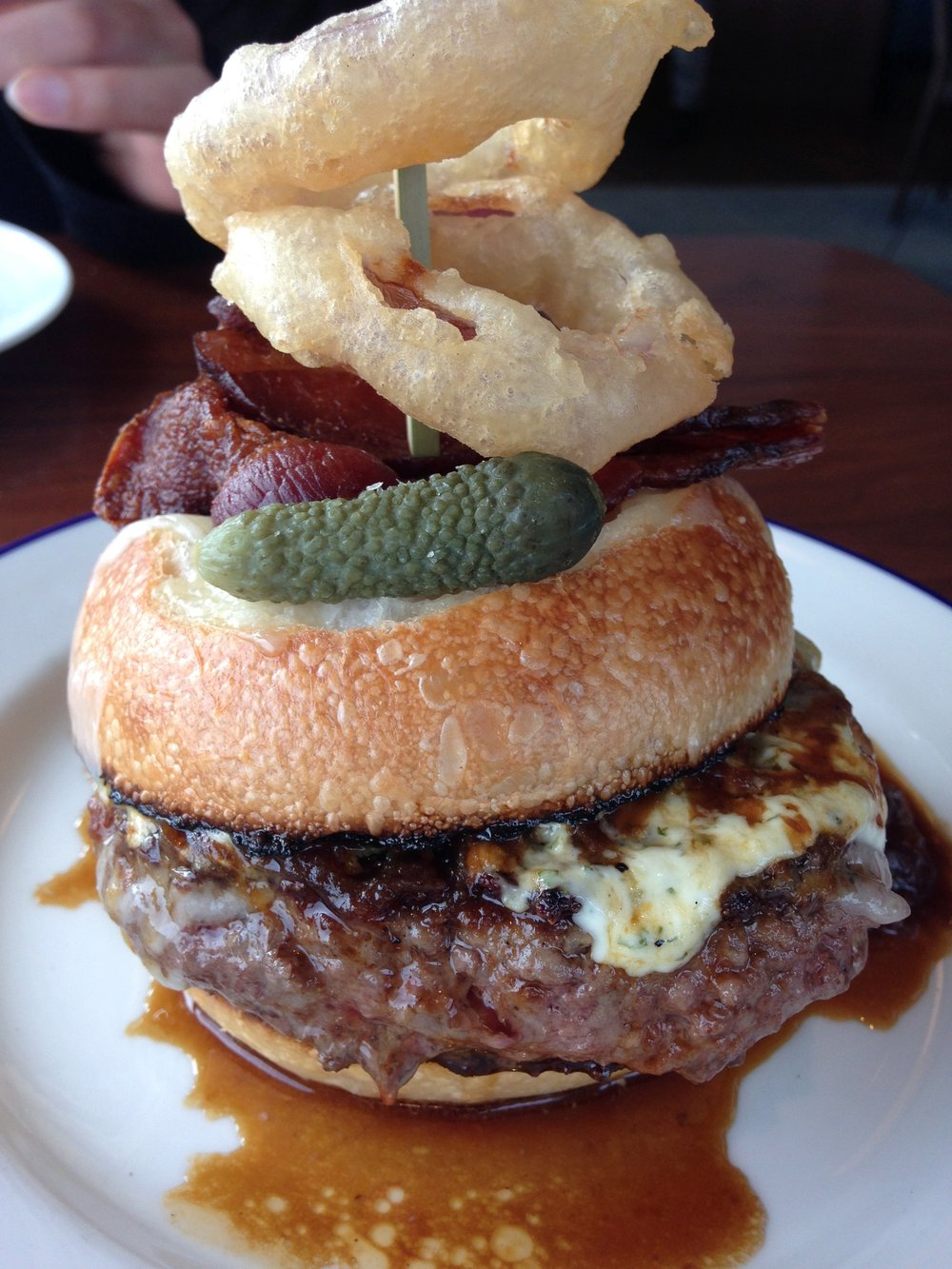 French Onion Burger from Manhatta, NYC