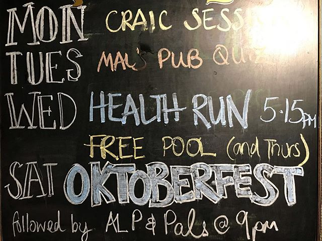 Celebrate Humpday with a run, it starts here at the Peg, every Wednesday at 5PM. Then this weekend, we have got OKTOBERFEST 🍻, from 4 to 7 PM. #funrun #oktoberfest #beer #healthy #christchurch #christchurchnz