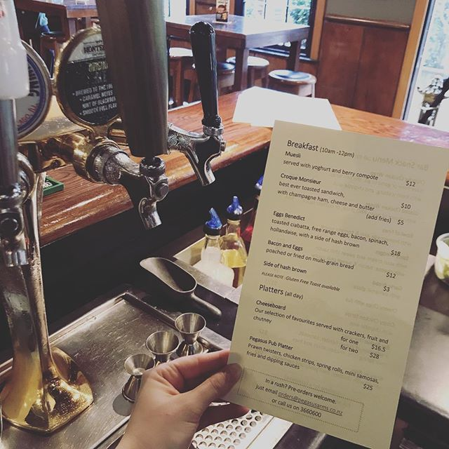 🚨 NEW MENU 🚨 we now do brekkie, come treat yourself on this rainy day 😍 #menu #pub #restaurant #christchurch #foodporn