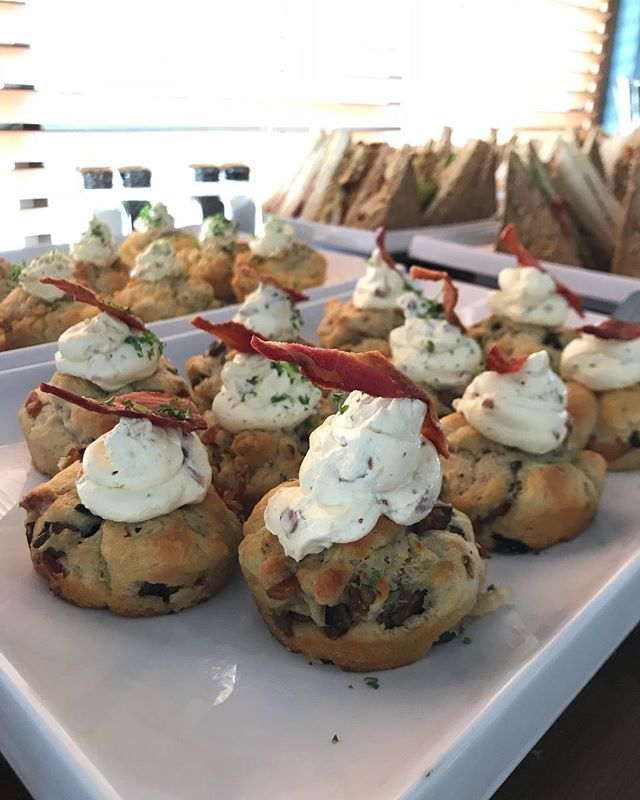 Cheese, onions, bacon and mushroom savouries for this afternoon's function ... nom nom 🥧🍹 #foodporn #food #savouries #tasty #function #event #platters . . . . #pegasusarms #christchurch #bar #pub #restaurant #newzealand #christchurchnz