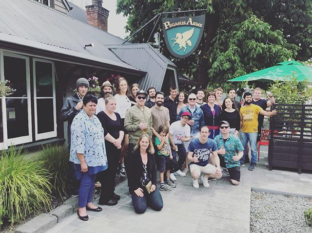 From us to you ! Merry Christmas 🎄🎁❤️ #pegasusarms #christchuch #familypicture #christchurch #pub #beer #bar #newzealand #river