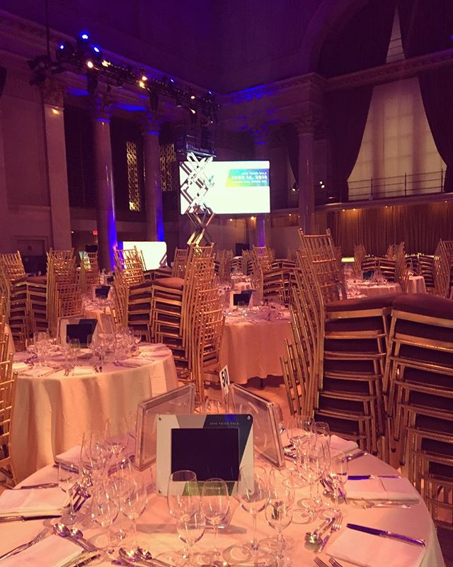 A behind-the-scenes look at last night's event #eventplanner #eventsetup #eventprofs #nyc #events #chiavarichairs #chiavari #gala #fundraiser #newyorkcity #calmbeforethestorm