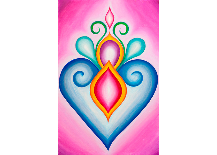 Sacred Heart - Original SOLD - Prints Available