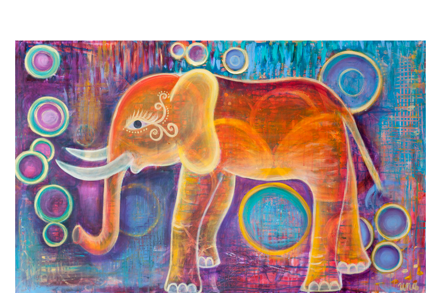 Elephantoms - Original SOLD - Prints Available