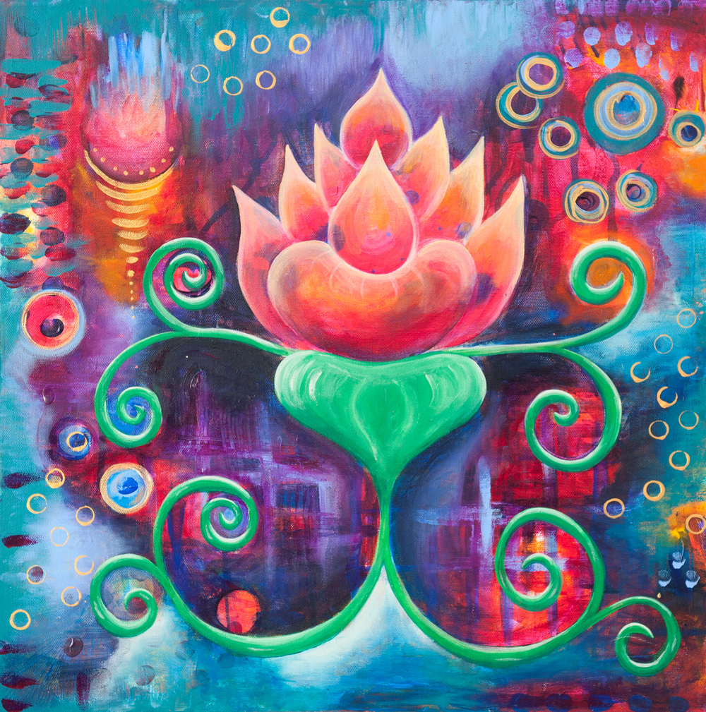 Cosmic Lotus 1 - Original SOLD - Prints Available