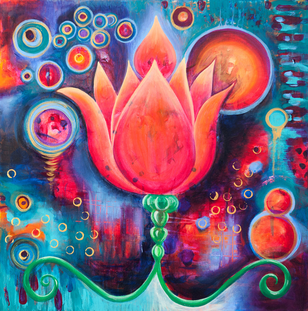 Cosmic Lotus 2 - Original and Prints Available