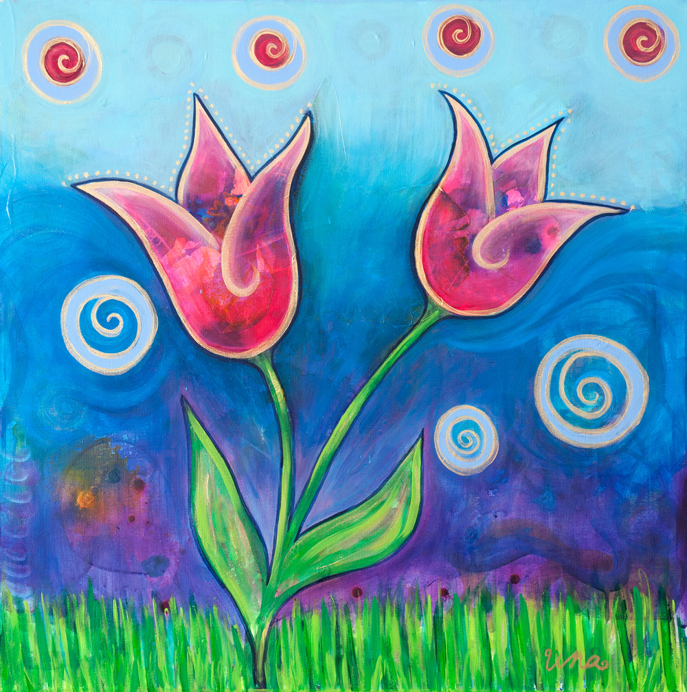 Two Tulips - Original SOLD - Prints Available