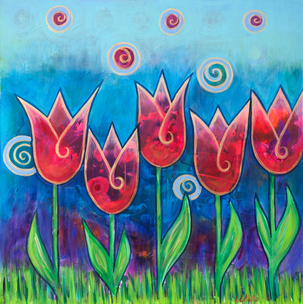 Five Tulips - Original SOLD - Prints Available