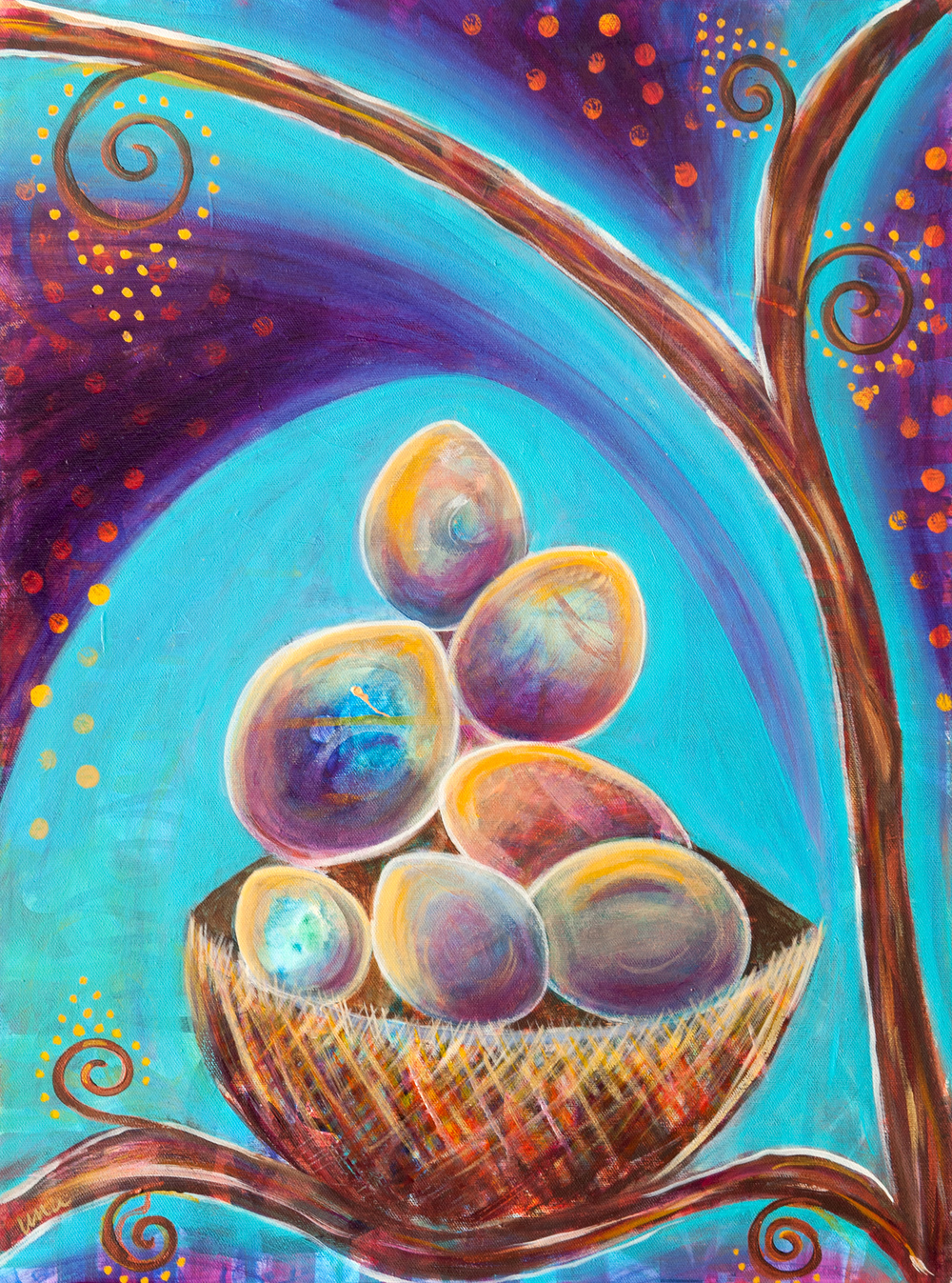 Nest of Eggs - Original and Prints Available