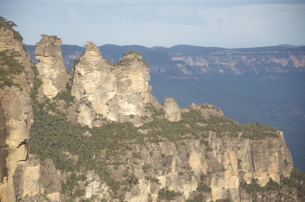 The Three Sisters in Australia's Blue Mountains, copyright Meghan Miner Murray.