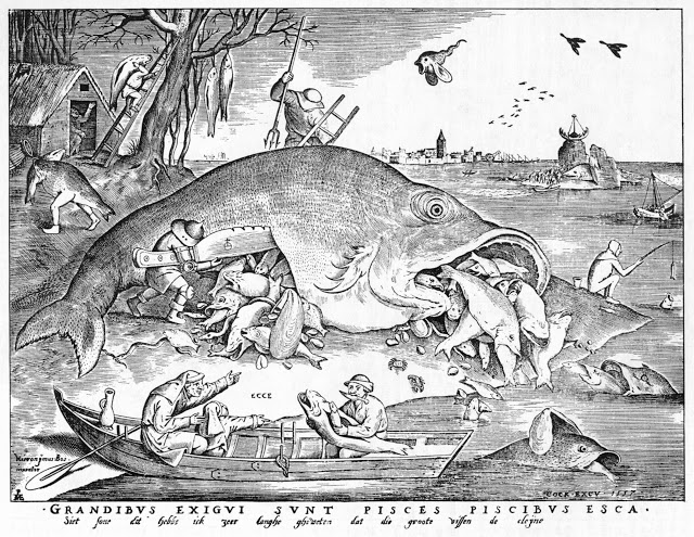 Pieter van der Heyden after Pieter Bruegel the Elder,  Big Fish Eat Little Fish , 1557